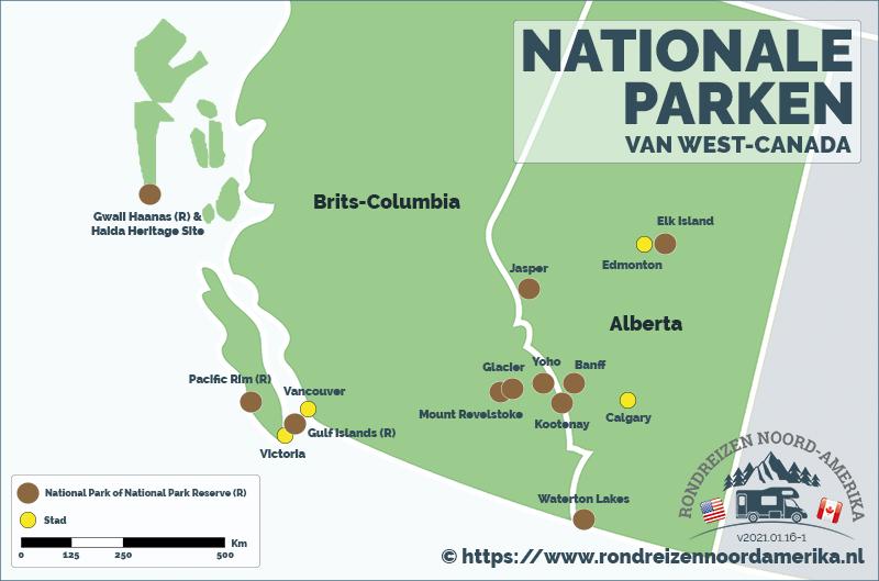 Nationale Parken van West-Canada
