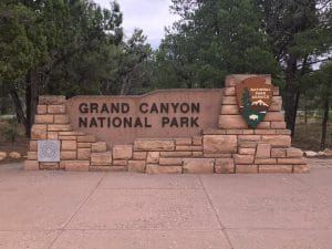 Grand Canyon ingang bord