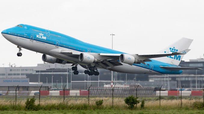 KLM Boeing 747 onderweg naar Los Angeles