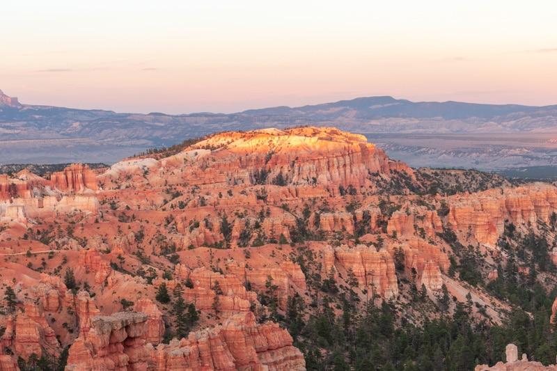 Bryce Canyon NP tijdens zonsondergang