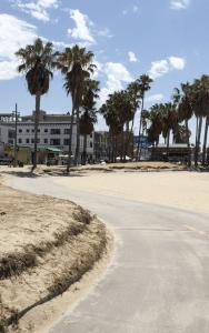Fietspad tussen Santa Monica en Venice Beach
