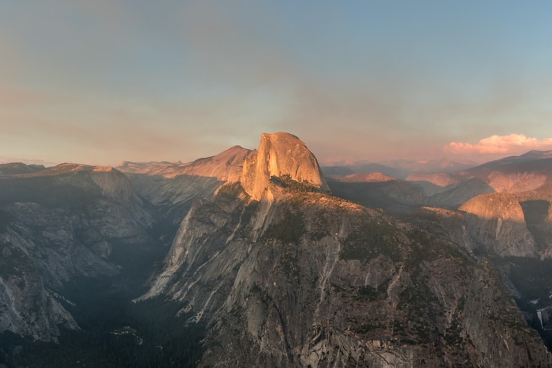 Half Dome vanaf Glacier Point