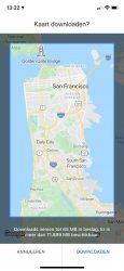 Google Maps offline navigeren