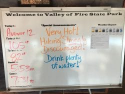 Valley of Fire warning