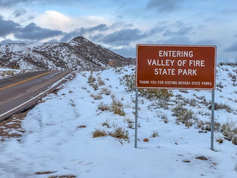 Valley of Fire in de winter