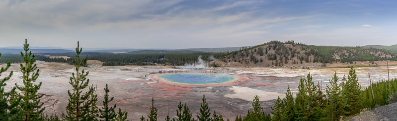Grand Prismatic Spring Yellowstone Panorama