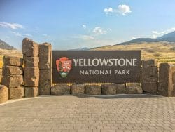 Toegangsbord Yellowstone