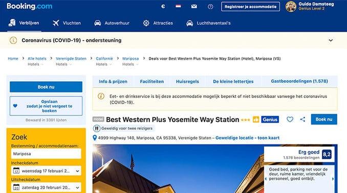 Booking.com coronamaatregelen