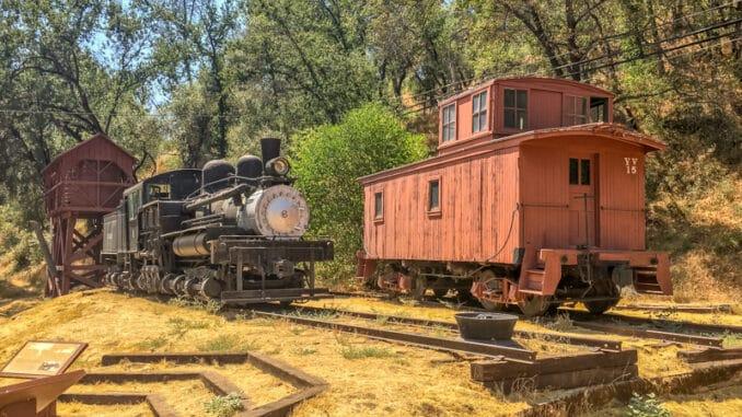 Trein bij El Portal Yosemite